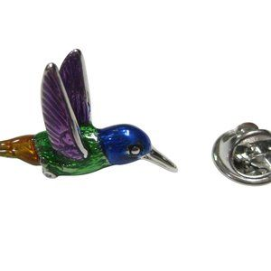 Colorful Hummingbird Lapel Pin